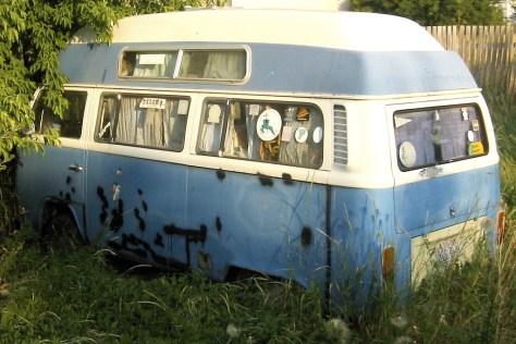 Bus hibernating in Logan Utah