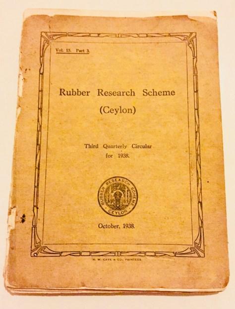 Rubber Research Scheme –Sri Lanka Books & Ledgers