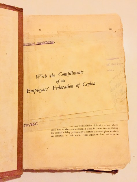 With Compliments of the Employers' Federation of Ceylon – Sri Lanka Books & Ledgers
