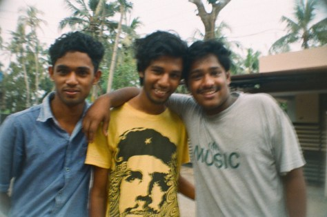 Scenes of Life in Tripunitura & Kochi: some of the young men in the neighbourhood, all with fine heads of coifed hair