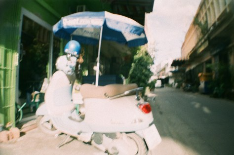 Scenes of Life in Phitsanulok: Vespa scooter