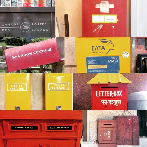 Postcard stilllife - postbox collage