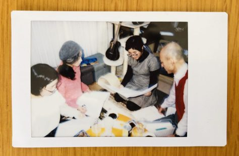 L-R Kazuko-san, Mitsuko-san, Ryoko-san and Yano-san geeking out on a project