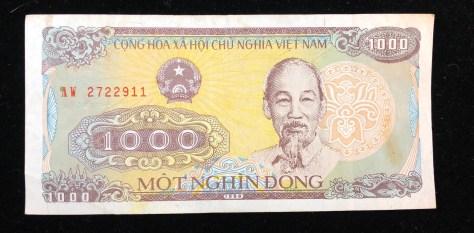 Vietnam: 1000 Dong (front)