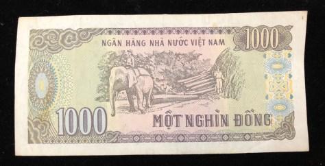 Vietnam: 1000 Dong (back)