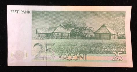 Estonia (Eesti Pank): 25 Krooni (back)