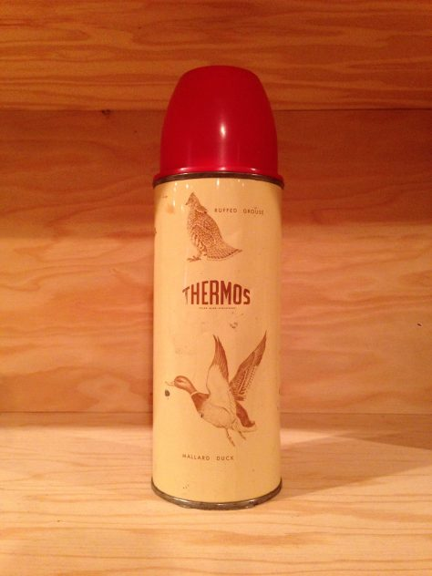 Thermos with pheasant