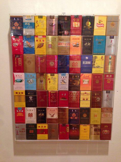 Chinese cigarette packs