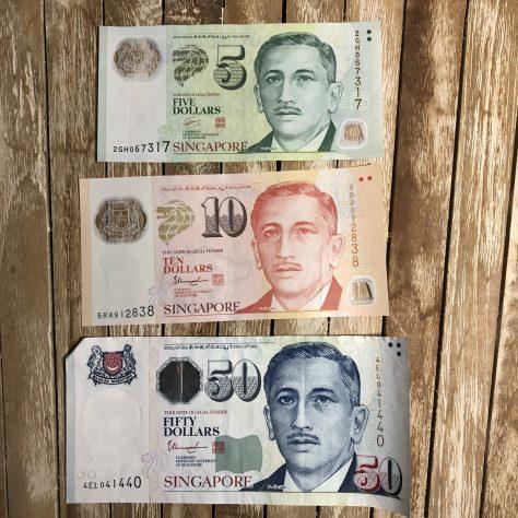 Singapore: Dollar (5, 10, 50 –front)