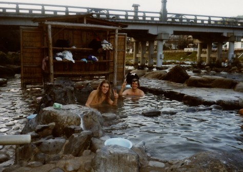 Misasa, Kawara rotenburo with Bob, circa 1993