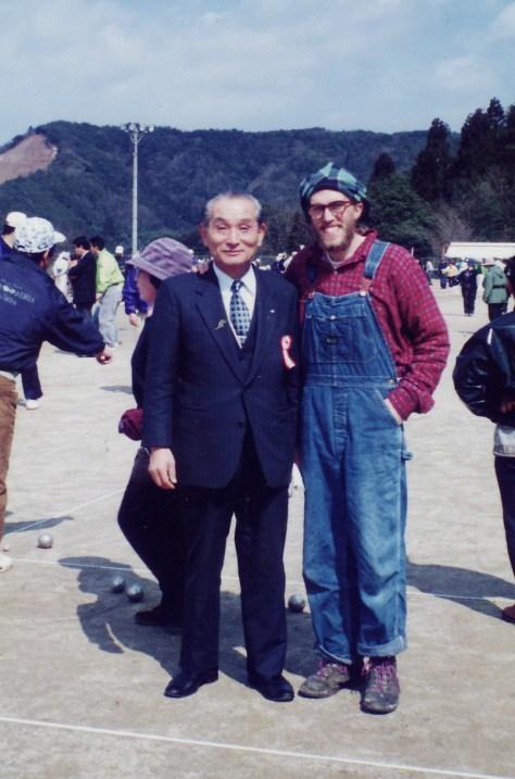 Misasa, Petaneque tournament, with Mayor, circa 1994