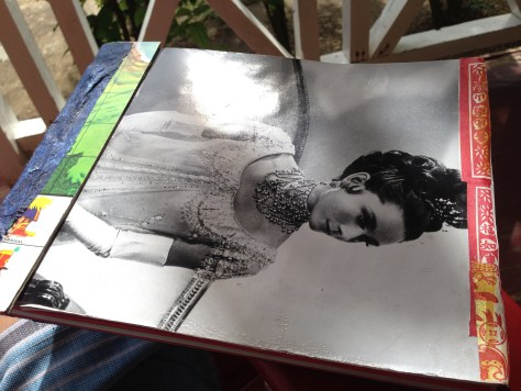 Scrapbook: Jamaica / ephemera + musings + lyrics, 2013 (Audrey Hepburn in War and Peace cover detail)