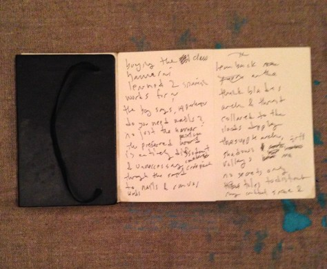 Journal: Mexico / poetry, 2009? (accordion black cover)