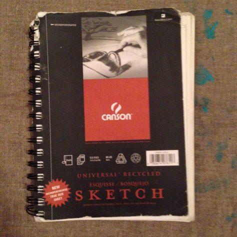Journal: poetry, drawings, musings etc., circa 2015-7 (black sketchbook cover)