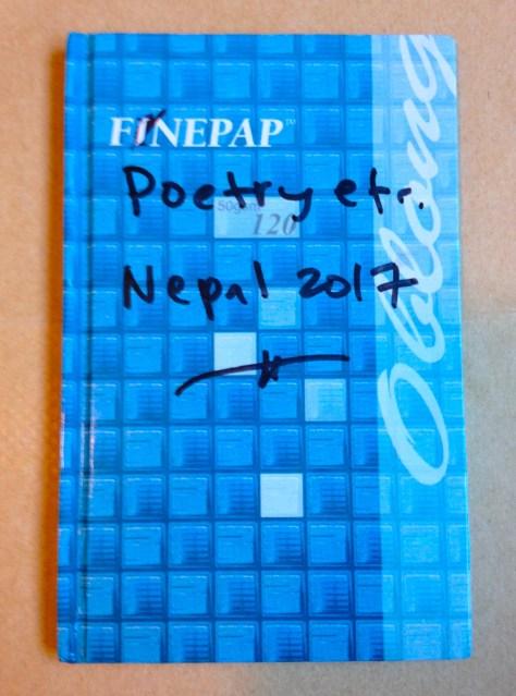 Journal: Nepal / poetry etc., 2017 (Finepap blue cover)