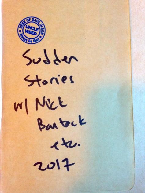 Journal: Sudden Stories w/ Nick Bantock, 2017