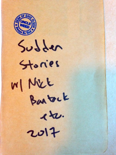 Journal: Sudden Stories w/ Nick Bantock, 2017