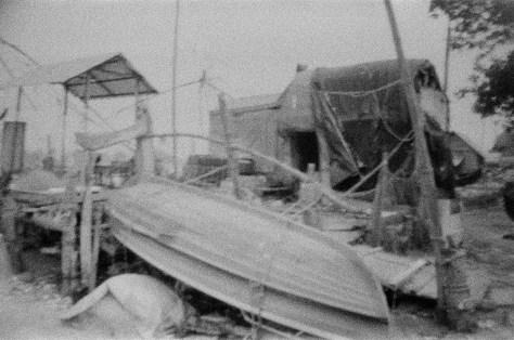 Boats under repair at Mahatma Gandhi beach, Fort Kochi