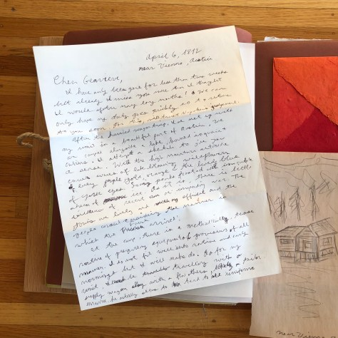 Letters from Russia: Encamped near Vienna, letter detail