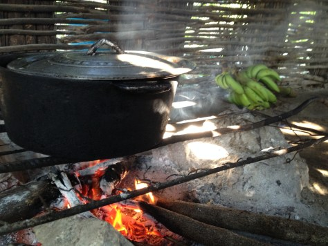 One pot Ital cooking in Jamaica Rasta hut