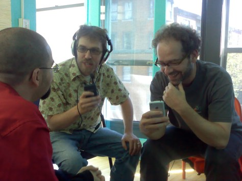 Open Source Culture - Dave Olson (with mic) with developers Zak Greant and Darid Ashcer, by Boris Mann via Flick (cc)