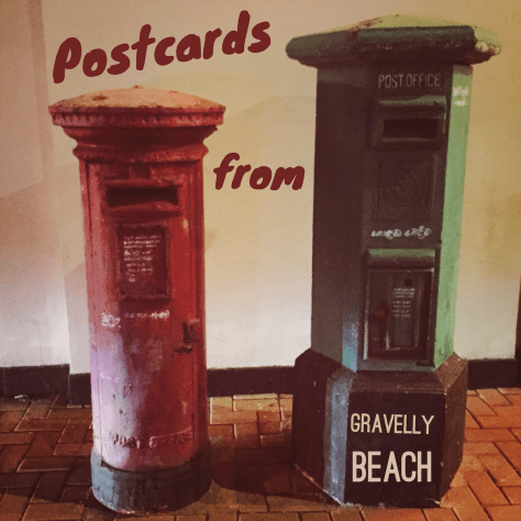 Postcards from Gravelly Beach - Colombo Red Green Tall Postbox