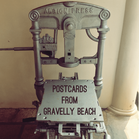 Postcards from Gravelly Beach - Galle Letterpress