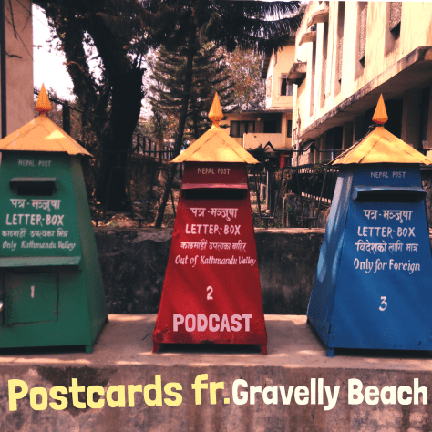 Postcard from Gravelly Beach – Nepal trio of postboxes