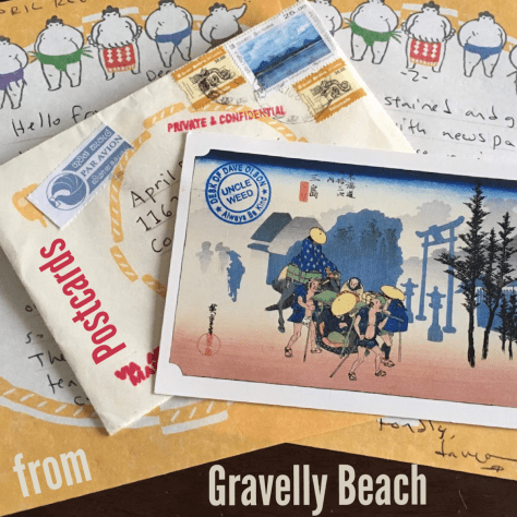 Pod cover - Postcards from Gravelly Beach - Sumo letters