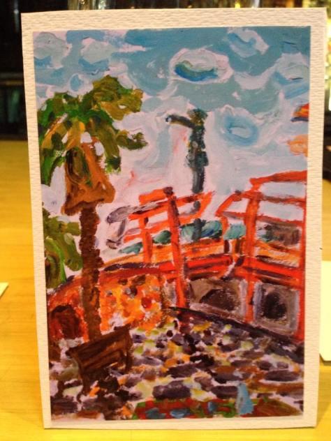 Post'd: art postcards, handmade –Colombo picnic (Barcelona)