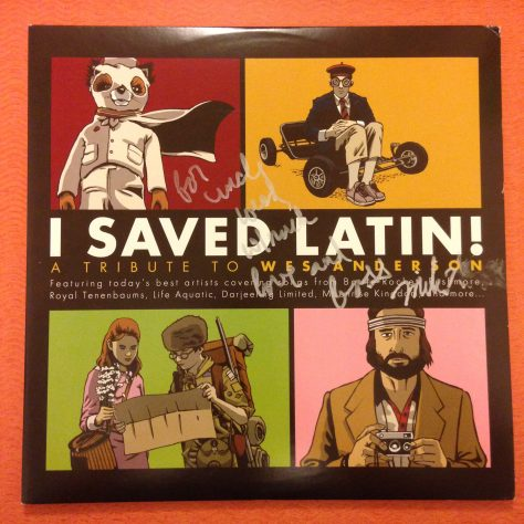 """Full jacket of """"I Saved Latin"""" from American Laundromat with """"For Uncle Weed, Much Bass, Mike Watt"""""""
