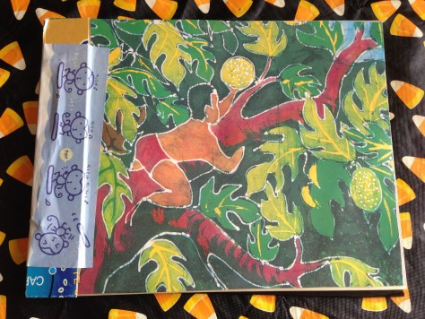 Scrapbook: assembly / coconut batik + monkeys (front cover)