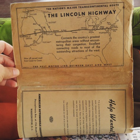 Scrapbook: Fck Stats, Make Art workbook, 2015 / Indonesia > Thailand (Lincoln Highway inside cover)
