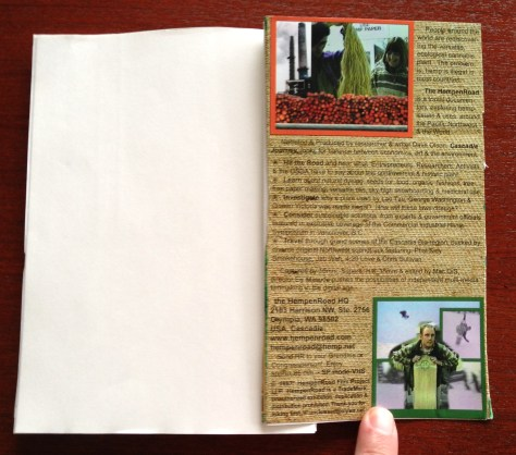Scrapbook: assembly / HempenRoad (inside back cover + block)