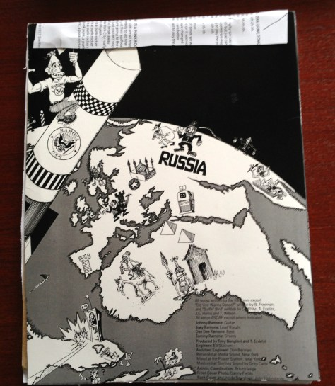 Scrapbook: assembly / Ramones (back cover)