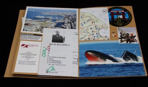 Scrapjournal: Japan via ship - front cover