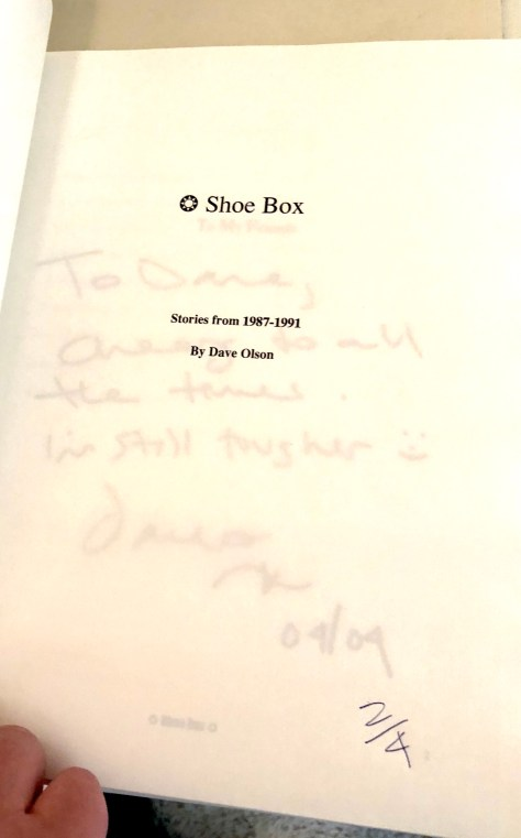 Shoebox, chapbook / title page