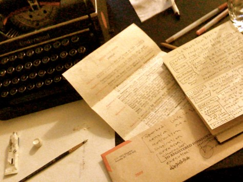 Letters from Russia: 3 Iterations of dossier (with Underwood typewriter)