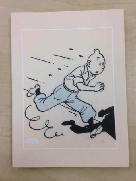 Notebook: Tintin, 2016 (purchased Quebec City, filled notes and plans in Galle, Sri Lanka)