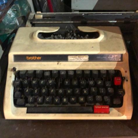Typewriter: Brother at Manshed, Sanur Indonesia