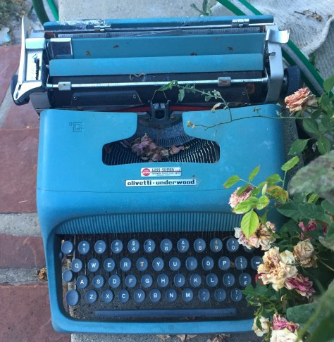 Typewriter: Olivetti (blue) at Marty's in Provo