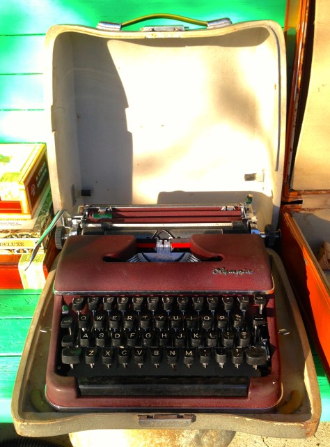 Typewriter: Olympia (with case, open) in Pe Ell WA