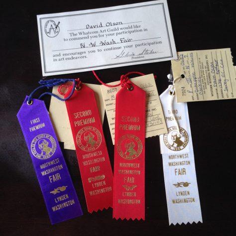 Ribbons: N.W. Washington (Whatcom County) Fair, variety of awards