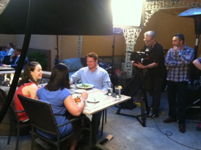 "On location during production of ""Blue Ridge Standard Time""."