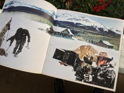 Spread from the Hateful Eight 70mm Road Show program.