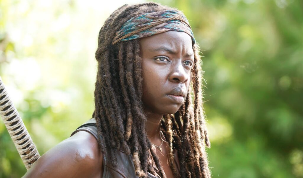 Since season 3 we've seen that Michone is supremely bad ass. But can she and her signature sword survive Neegan?