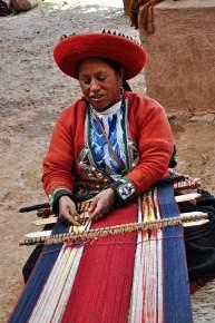 Weaving on a Backstrap Loom