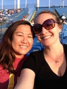 Jen and I at the Sparrows Game