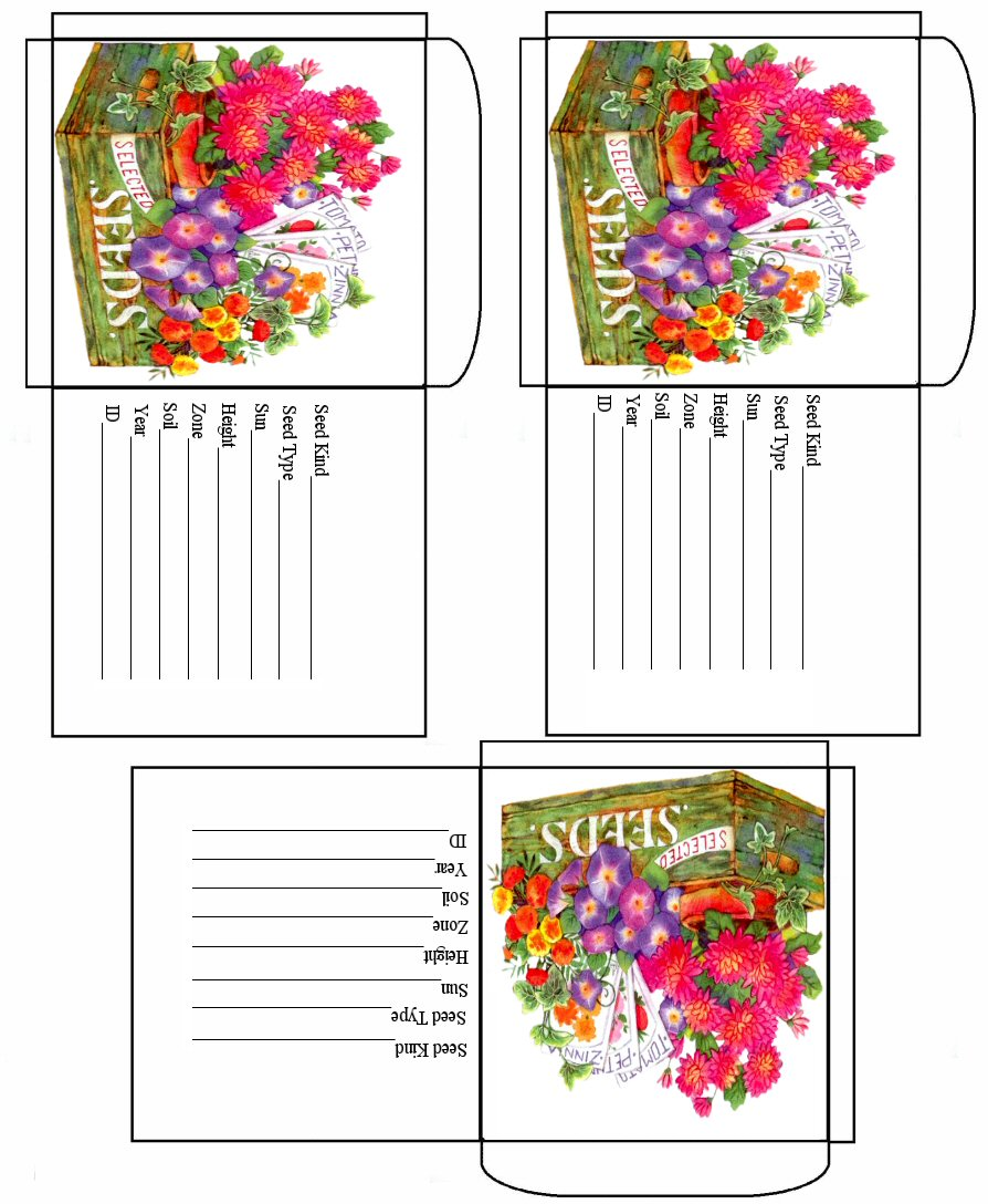 printable seed packets