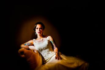 Bridal Portrait at Mims House in Holly Springs